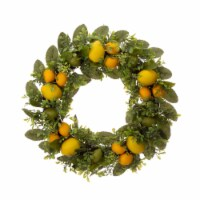 Glitzhome Artificial Greenery with Faux Lemons Wreath
