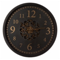 Glitzhome Modern Oversized Metal Wall Clock with Moving Gears