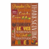Glitzhome Thanksgiving Wooden Sign Wall Decoration - 24 in