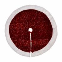 Glitzhome Sequin Christmas Tree Skirt - Red/White