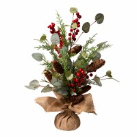 Glitzhome Christmas Floral Table Tree Decoration