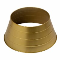 Glitzhome Painted Metal Tree Collar - Gold