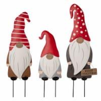 Glitzhome Christmas Gnome Yard Stakes