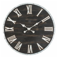 Glitzhome Oversized Farmhouse Wooden and Galvanized Wall Clock