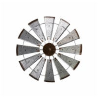 Glitzhome Farmhouse Metal Galvanized Wind Spinner Wall Decor