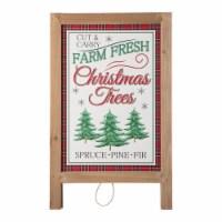 Glitzhome Christmas Wooden Porch Sign Decor