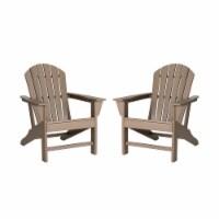 Glitzhome All-Weather Adirondack Chair - Tan