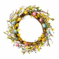 Glitzhome Bright Easter Egg Wreath