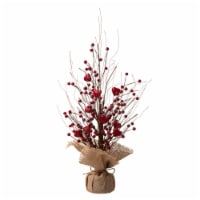Glitzhome Valentine's Berry Heart Table Tree Decoration
