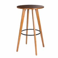 Glitzhome Midcentury Modern Round Natural Bamboo Bar Table - 1 ct