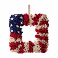 Glitzhome Americana Square Fabric Wreath