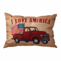 Glitzhome Patriotic Americana Burlap Pillow