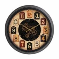 Glitzhome Oversized Vintage Round Gear Clock