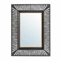 Glitzhome Oversized Modern Metal Wall Mirror - Black/Gold