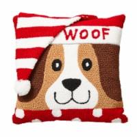 Glitzhome Festive Woof Pillow - 14 in
