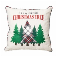 Glitzhome Farm Fresh Christmas Tree Pillow - 18 x 18 in