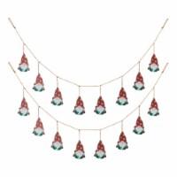 Glitzhome Christmas Gnome Garland - 2 ct / 6 in