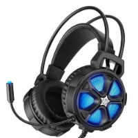HP H400 Wired Gaming Headset w/ LED RGB Lights & Integrated Mic, For PC & Laptop - 1 Piece