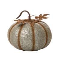 Glitzhome Galvanized Metal Round Pumpkin