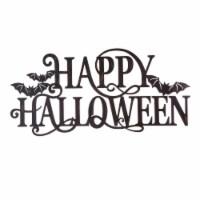Glitzhome Metal Happy Halloween Wall Sign - 1 ct