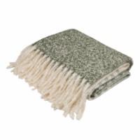 Glitzhome Woven Acrylic Striped Jacquard Tassel Throw Blanket - 60 x 50 in
