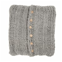 Glitzhome Handmade Acrylic Cable Knit Pillow Cover - Gray
