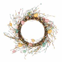 Glitzhome Pastel Easter Egg Wreath