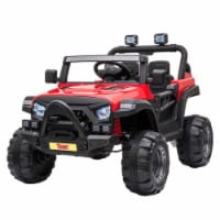 TOBBI 12V Kids Electric Battery-Powered Ride On 3 Speed Toy SUV Truck Car, Red - 1 Piece