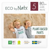 Eco by Naty Size 5 Pull-Ups Training Pants 80 Count