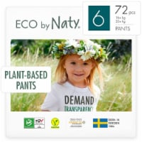 Eco by Naty Size 6 Pull-Ups Training Pants 72 Count