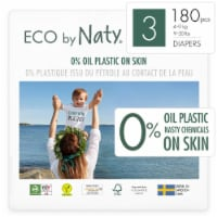 Eco by Naty Size 3 Disposable Diapers 180 Count