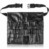 SHANY Cosmetics Brush Holder Apron - Black Leather - 1 Each