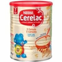 Nestle Cerelac 5 Cereals with Milk - 400 Gm (14 Oz) - 1 unit