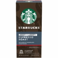 Starbucks by Nespresso Decaf Espresso Roast Ground Coffee Pods 10 Count