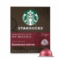 Starbucks Nespresso Sumatra Single Serve Coffee Capsules