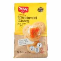 Schar Entertainment Crackers Gluten Free - Case of 6 - 6.2 oz. - 6.2 OZ