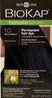 Biokap  Nutricolor Delicato Permanent Hair Dye 1.0 Natural Black