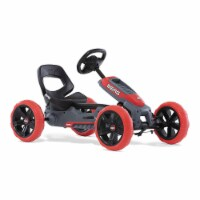 BERG Reppy Rebel Kids Pedal Go Kart Ride On Toy w/ Axle Steering, Red and Gray - 1 Piece