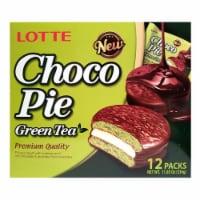 Lotte Green Tea Choco Pie 12 Count