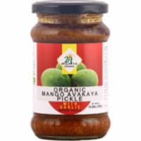 24 Mantra Organic Mango Avakaya Pickle With Garlic - 300 Gm (10.58 Oz) - 1 unit