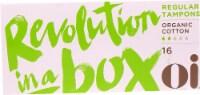 Oi Organic Initiative Organic Cotton Regular Non-Applicator Tampons
