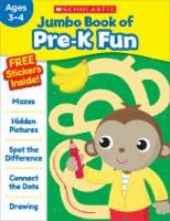 Jumbo Book of Pre-K Fun Workbook by Scholastic - 1 ct