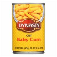 Dynasty Baby Corn - Cut - Case of 12 - 15 oz. - 15 OZ