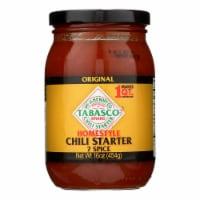 Tabasco Homestyle Chili Starter - Case of 6 - 16 OZ - Case of 6 - 16 OZ each