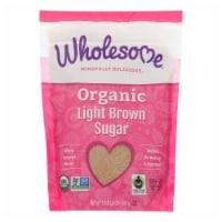 Wholesome Sweeteners Sugar - Organic - Light Brown - 24 oz - case of 6 - 24 OZ