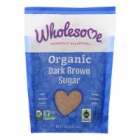 Wholesome Sweeteners Sugar - Organic - Dark Brown - 24 oz - case of 6 - 24 OZ
