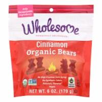 Wholesome! Candy - Organic - Cinnamon Bears - Case of 6 - 6 oz - 6 OZ