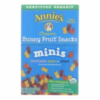 Annies Homegrown Annie's Organic Mini Bunny Fruit Snacks 5 Count - Case of 10 - 4 OZ
