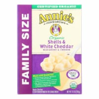 Annies Organic Family Size Shells White Cheddar Macaroni and Cheese Case of 6 - 10.5 oz. - 10.5 OZ