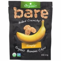 Bare Organic Simply Banana Chips, 2.7 oz(Pack of 12)